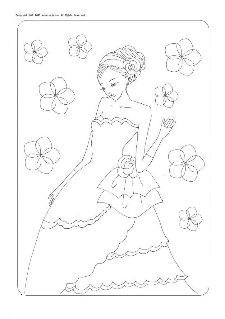 無料ダウンロードお姫様の塗り絵ちょっと大人の塗り絵をどうぞ Part2