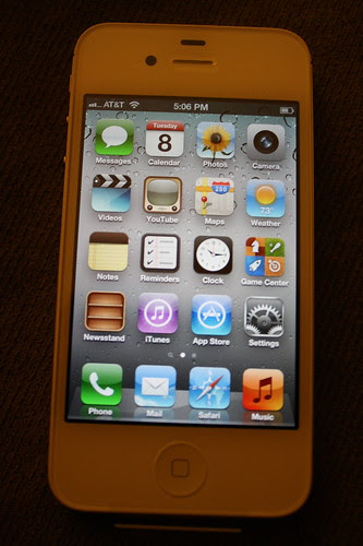 iPhone 4S menu
