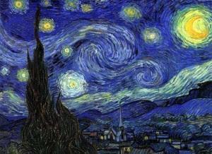 vangogh noche estrellada colores frios