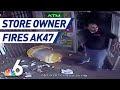El dueño de una tienda abre fuego con un AK-47 contra un cliente
