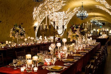 Our wedding reception in the wine cave at The Meritage