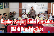 Kapolres Pangkep Hadiri Penyerahan Bantuan Langsung Tunai di Desa Tabo Tabo