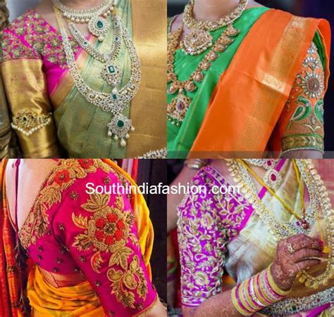 Blouse Designs for Wedding Silk Sarees ? South India Fashion