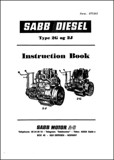Sabb 2G 2J Instruction Book - MARINE DIESEL BASICS