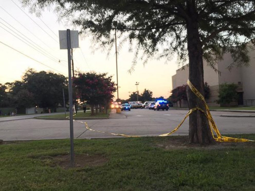 PHOTO: Police tape surrounds the scene following a shooting at a movie theater Thursday, July 23, 2015, in Lafayette, La.