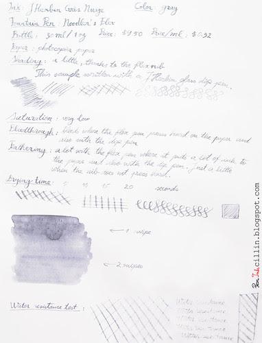 J Herbin Gris Nuage on photocopy