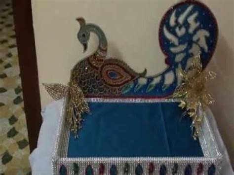 Wedding Tray with Peacock design   YouTube