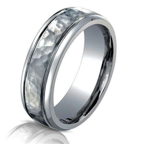 Titanium Classic Hammered Wedding Ring   www.WeddingBands
