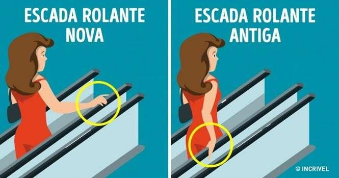 Entenda por que o corrimão da escada rolante é mais rápido que os degraus