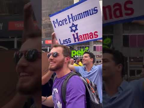 """We want Hummus"" rally in Manhattan"