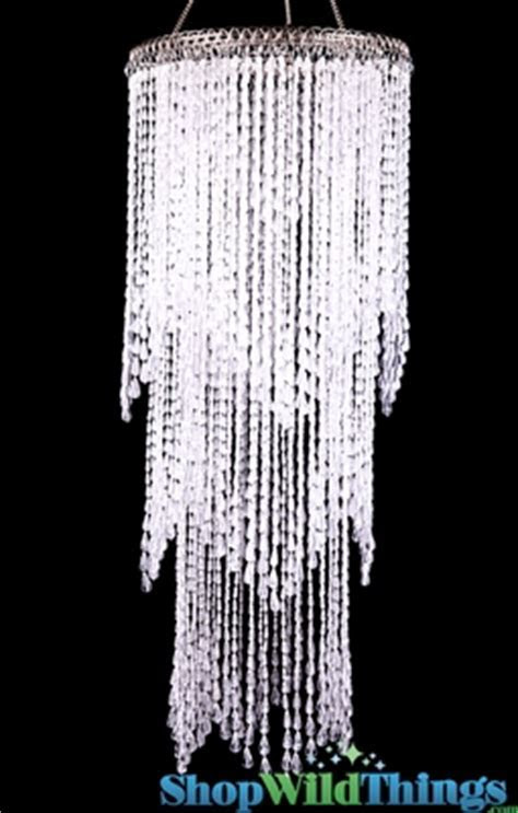 Waterfall Chandelier, Hanging Beaded Crystal Decoration