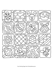 spring coloring pages • free printable pdf from primarygames