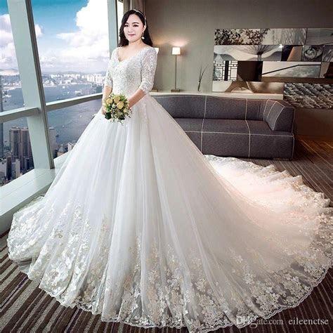 2017 Plus Size For Fat Women Wedding Dress XL 4 XL Special