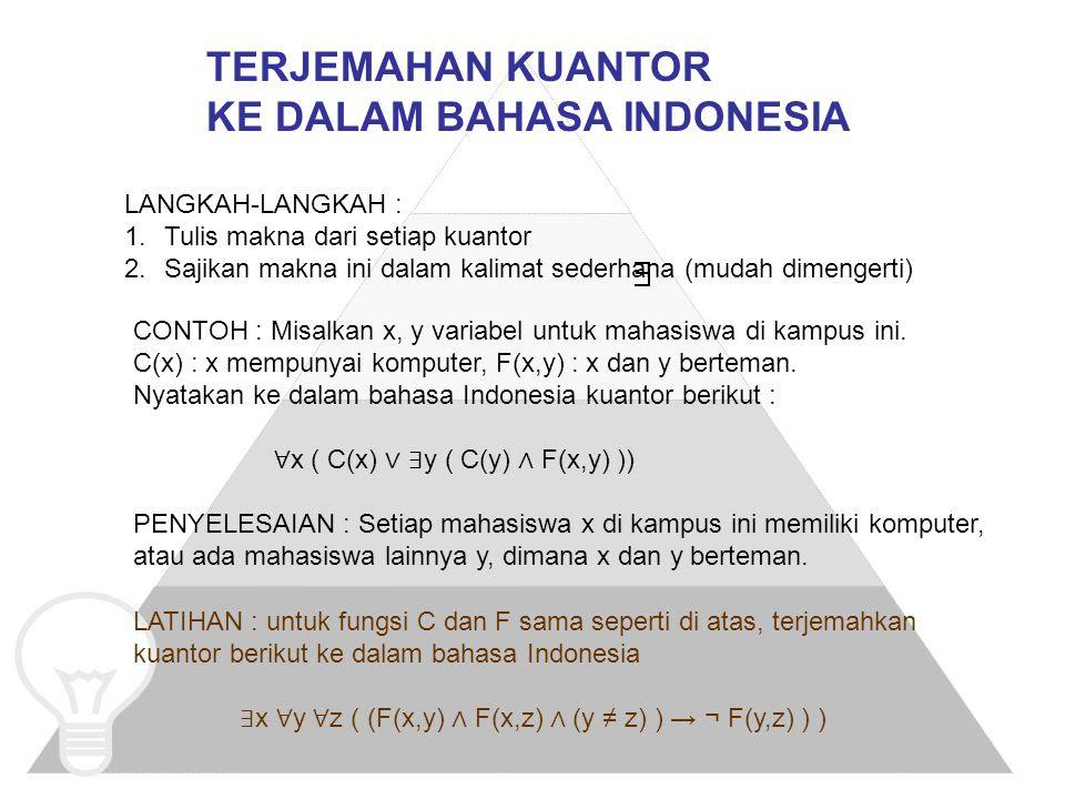 PREDIKAT dan FUNGSI PROPOSISIONAL  ppt download