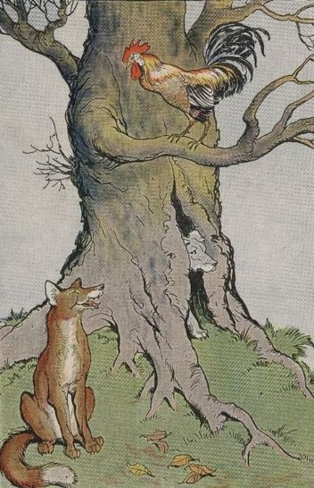THE DOG, THE COCK, AND THE FOX