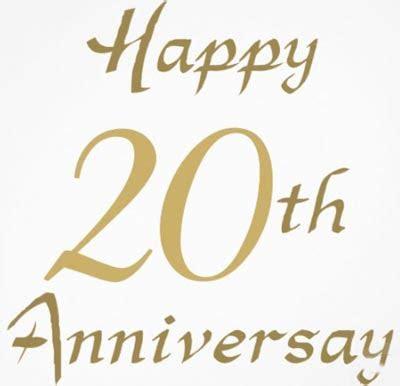 Celebrating Twentieth Anniversary   Wedding Anniversary