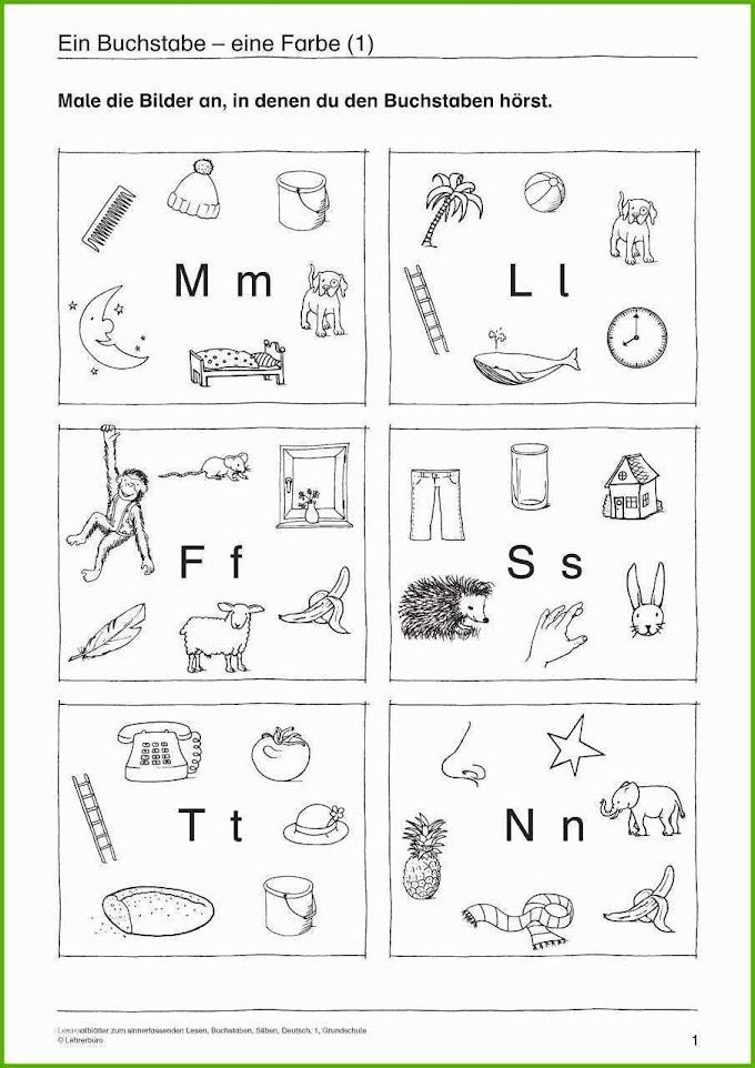 Arbeitsblatter Deutsch Klasse 1 Buchstaben