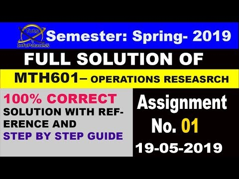 MTH601 Assignment 1 Solution Spring 2019 Step by Step Guide (VU Assignment)