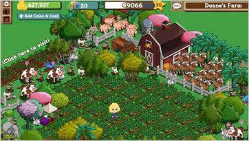 FarmVille, Zynga's online game.