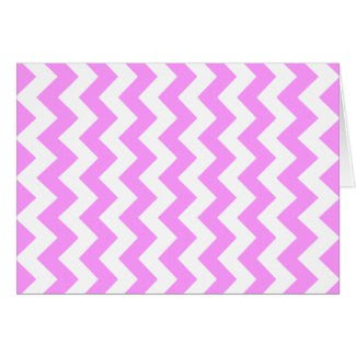 Pink and White Zigzag Greeting Cards