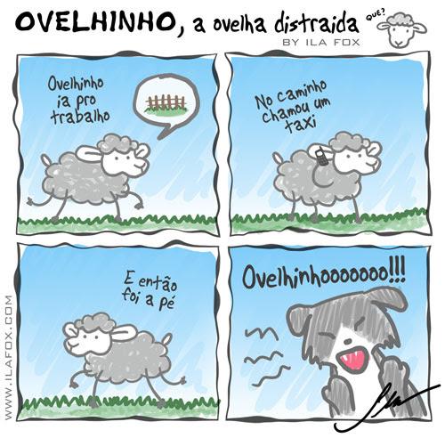 carneiro ovelha, ovelhinho a ovelha ia pro trabalho - quadrinhos by ila fox