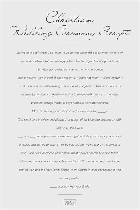18 Sample Wedding Ceremony Scripts From Traditional To Non