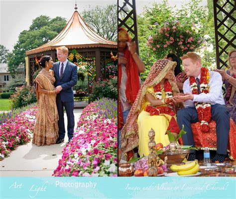 Outdoor East Indian Shaadi Biracial Asian Wedding Ceremony