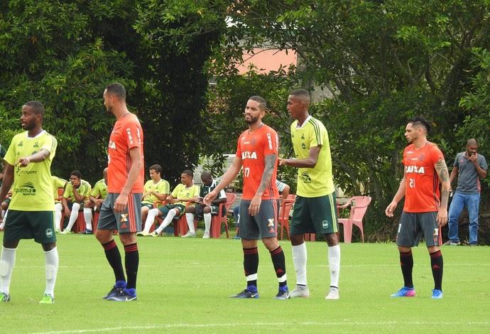 Romulo, Flamengo Jogo-Treino (Foto: Fred Gomes)