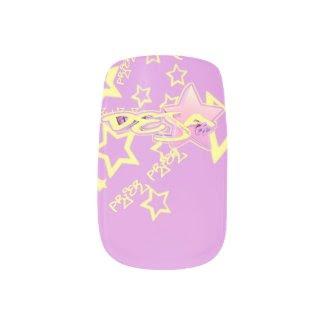 Blox3dnyc.com Urban star design for Deja Minx® Nail Wraps