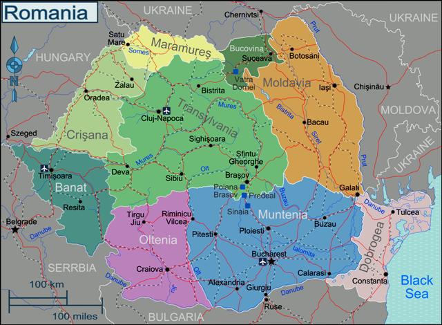 Imagini pentru harta romaniei pe regiuni