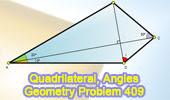 Problem 409: Quadrilateral, Diagonals, Perpendicular, Congruence.