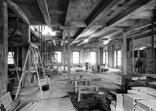 Foto feita no final de década de 40 durante reconstrução da Casa Branca (Foto: National Archives and Records Administration/Flickr)