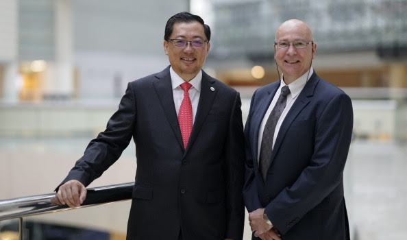 Surbana Jurong CEO Wong Heang Fine and SMEC CEO Andy Goodwin say their businesses are complementary.