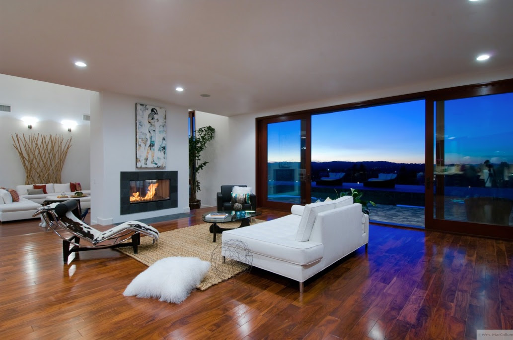 living room with view