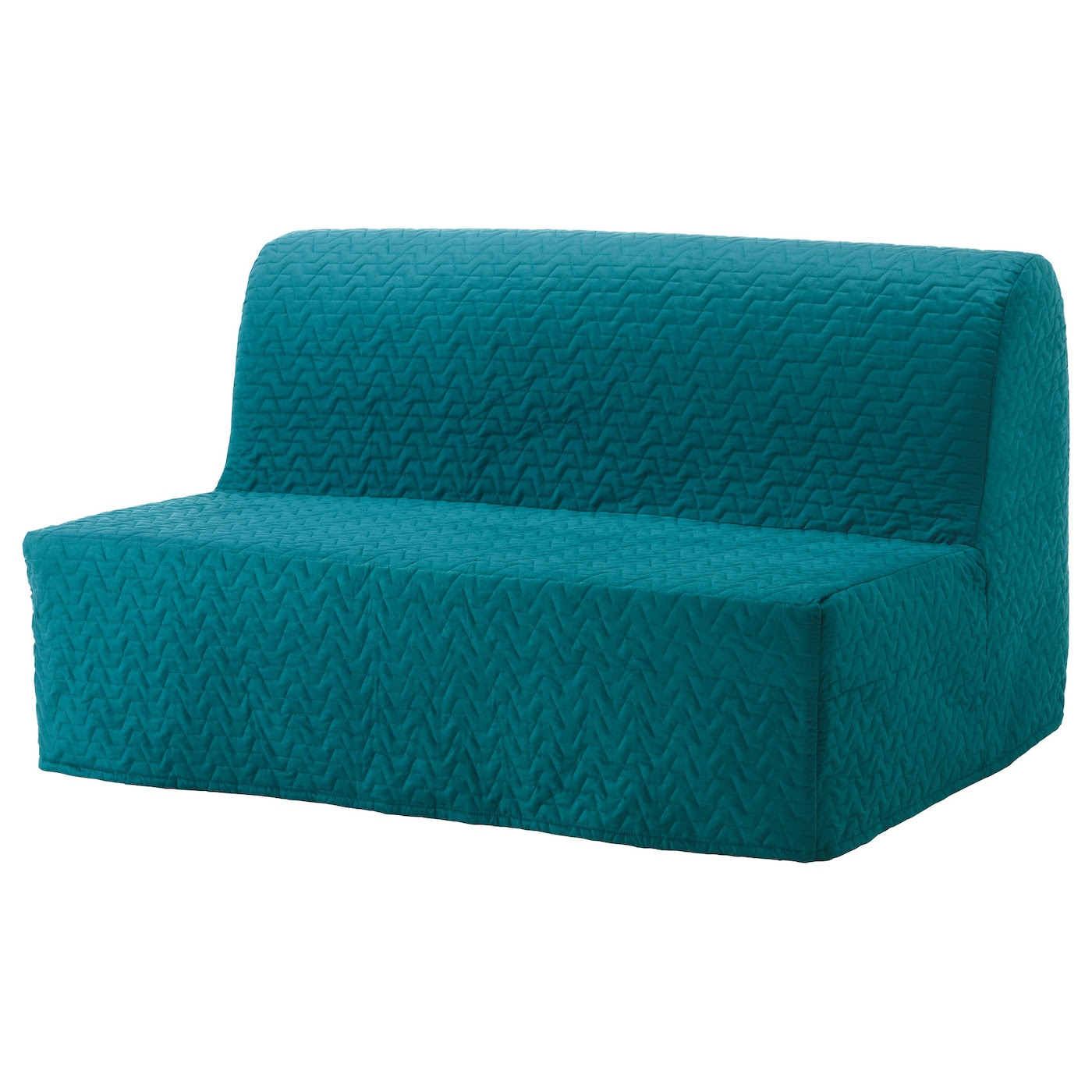 Lycksele Two Seat Sofa Bed Cover Vallarum Turquoise Ikea