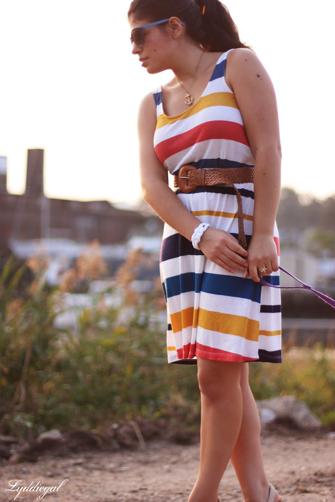 striped midi