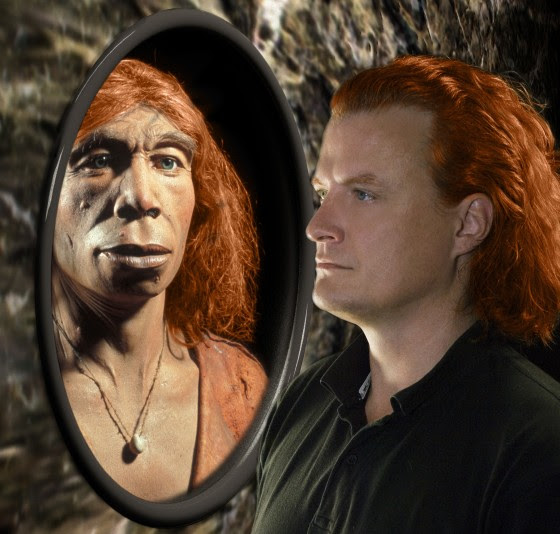 Image: Neanderthal and human