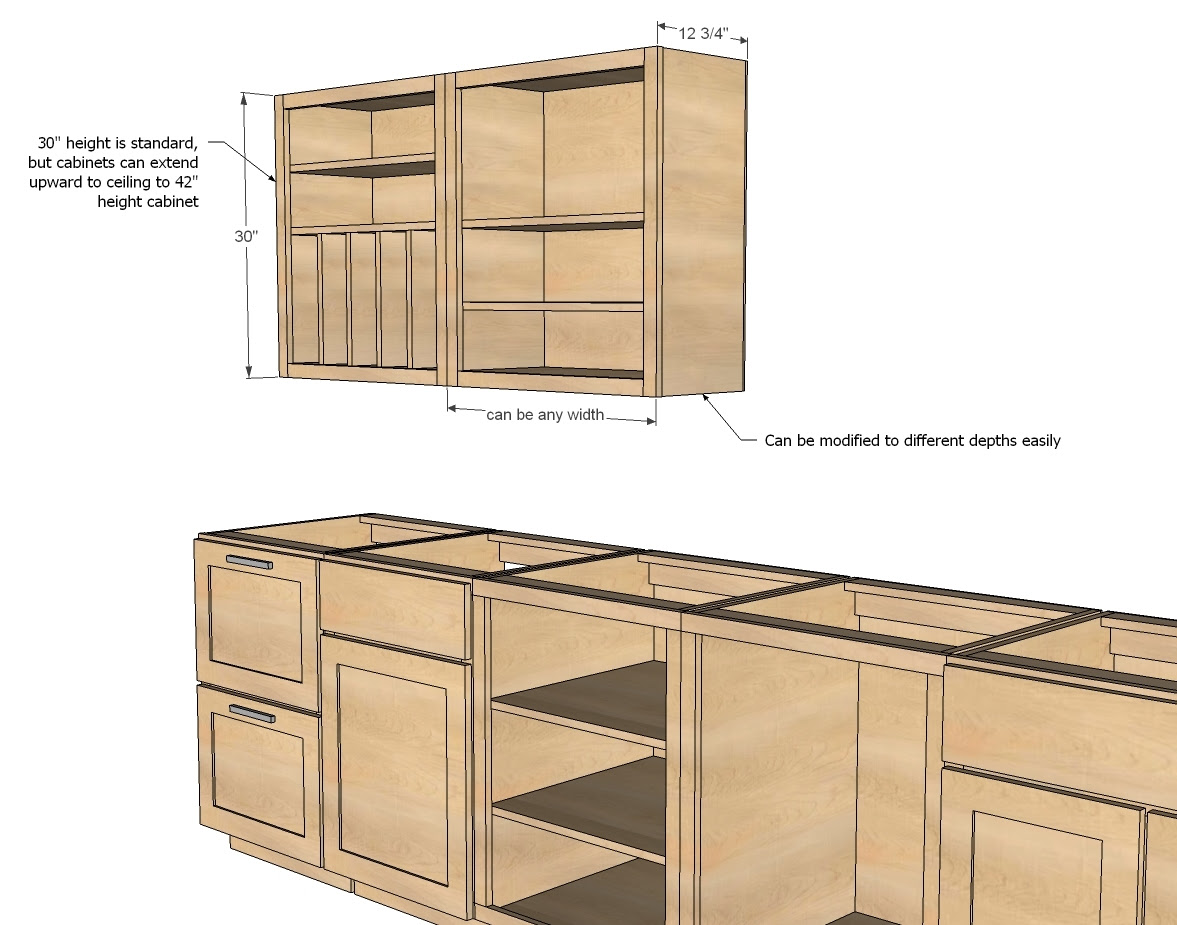 Plans For Kitchen Cabinets