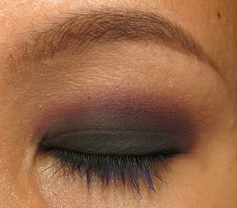 Purple and black smokey eye