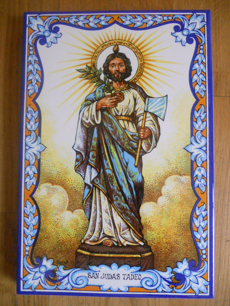 Saint Judas Tadeo Tile 20 X 30 Cm Wwwtraditionalspanishceramicscom