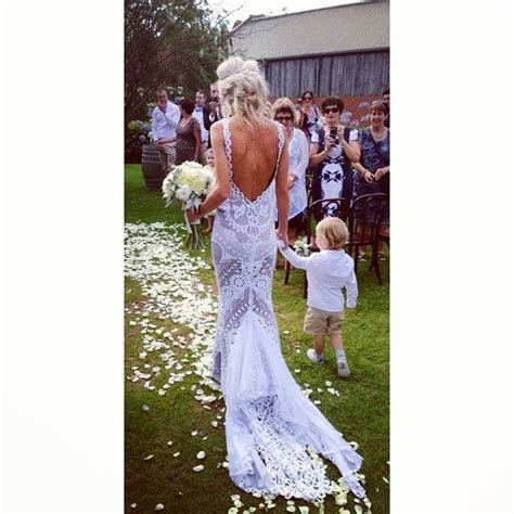 Beautiful back shot of Sarah wearing her Jane Hill gown