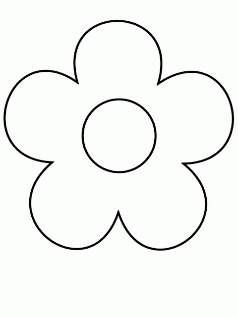 Beautiful Simple Flower Coloring Pages