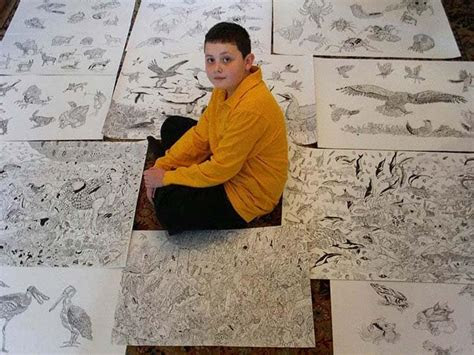 year  boy  handed    start drawing