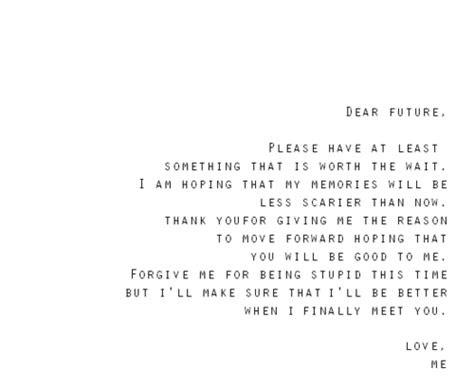 Dear Future Quotes Tumblr