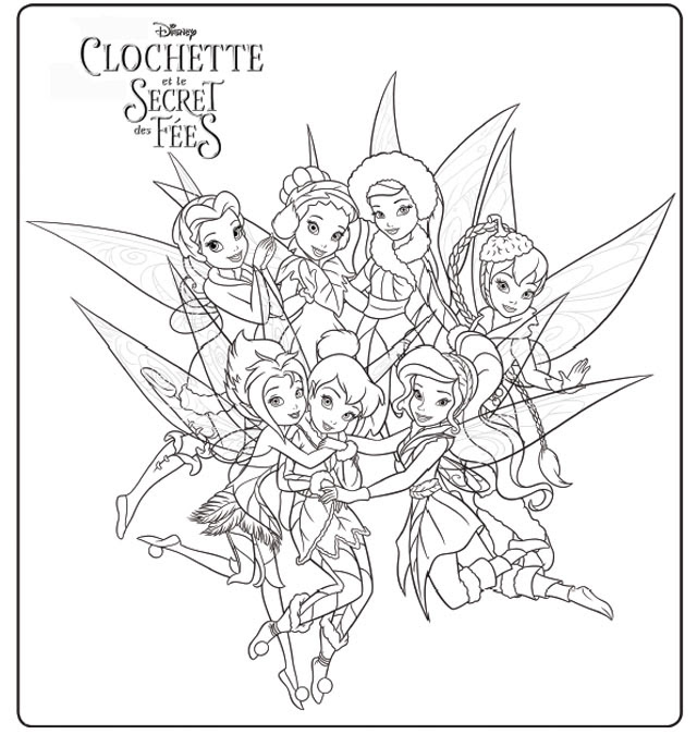 Gallery Of Coloriage Fee Clochette Et Ses Amis A Imprimer