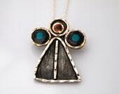 My Angel Necklace -  Modern Style -   Sterling Silver 925 - serpilguneysudesigns