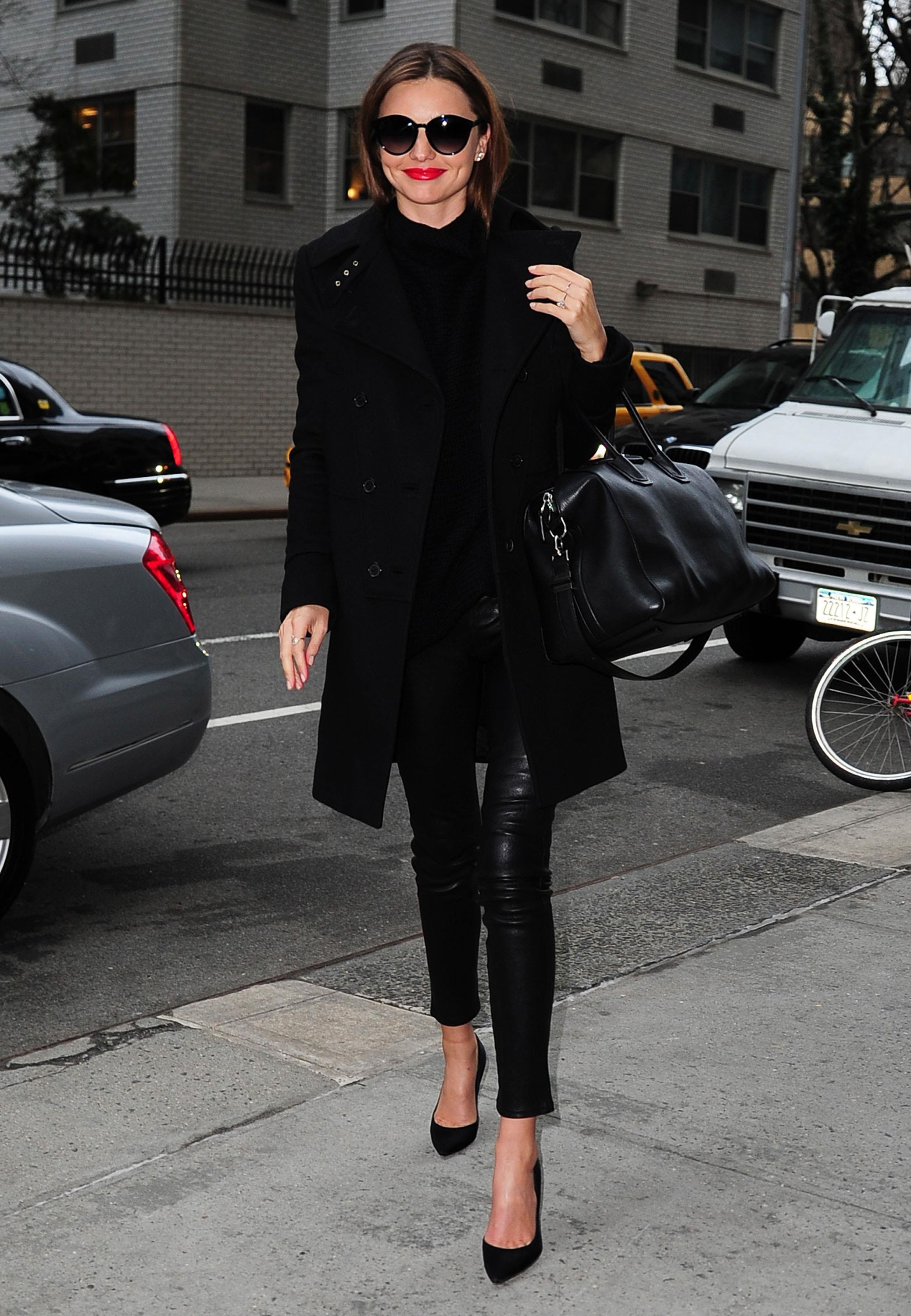 Miranda Kerr Street Style Winter Outfits At New York
