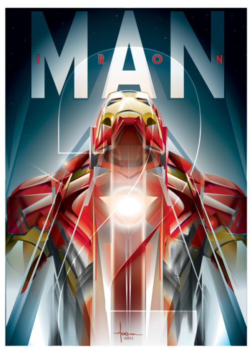 Iron Man Vectors by Orlando Arocena Prints available at mexifunk