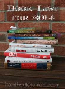 Book List for 2014