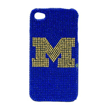 DEALS Michigan Wolverines Iphone Case - Glitz 4g Faceplate LIMITED